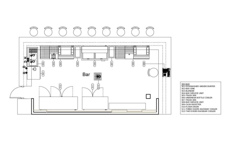Restaurant Bar Layout Plan 0708201