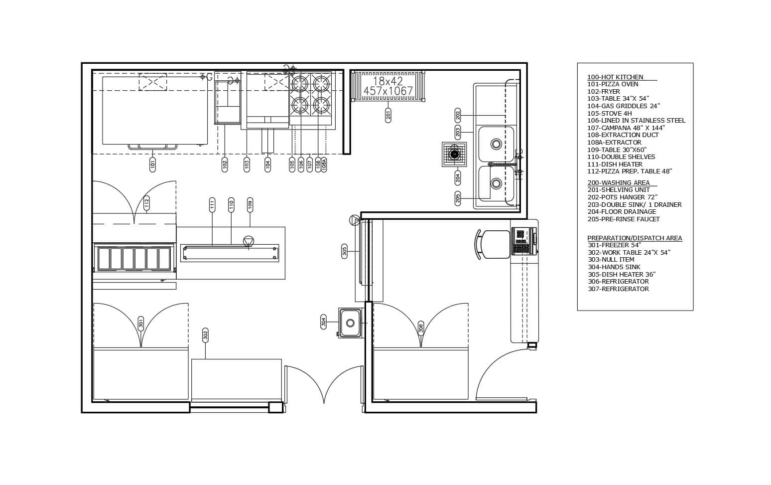 Small Pizza Shop layout plan