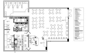 Complete Restaurant kitchen layout floorplan