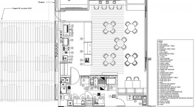 Coffee Shop Equipment With Layout Example