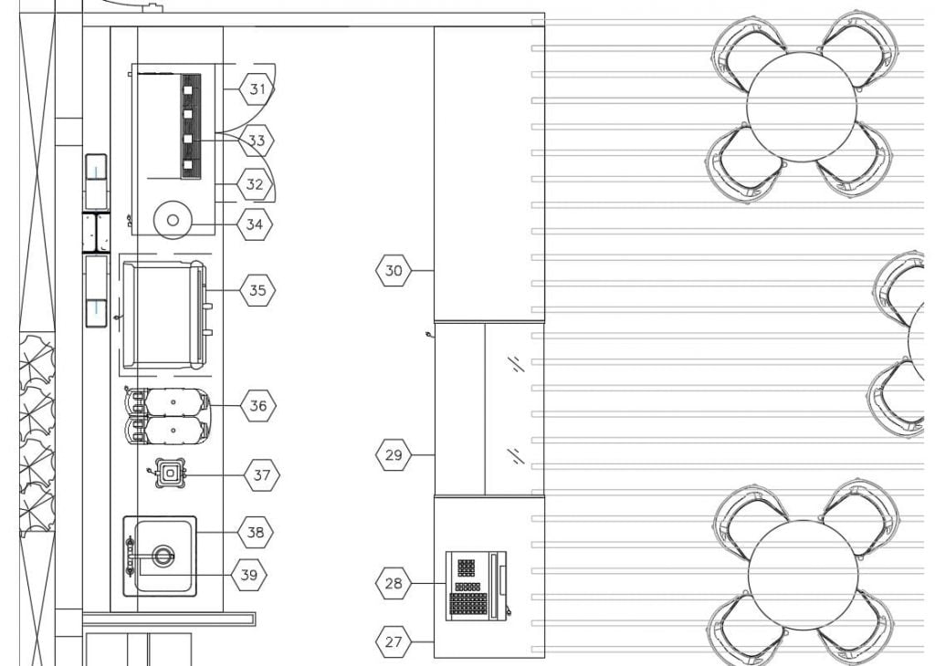 Coffee Shop Area layout