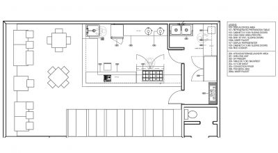 Poke Kitchen And Restaurant Equipment With Layout Example